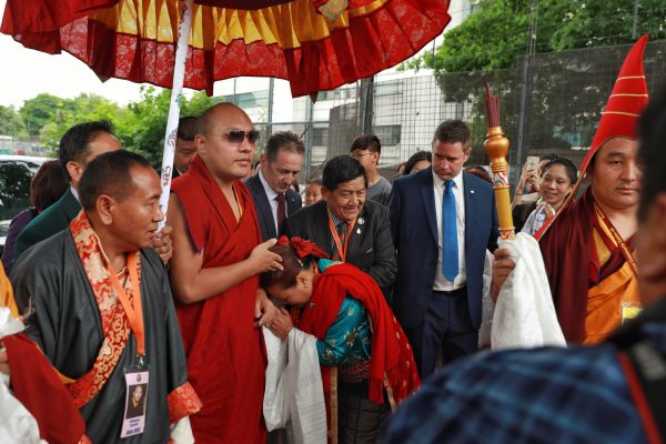 The Karmapa Visits the World of Nepal in England