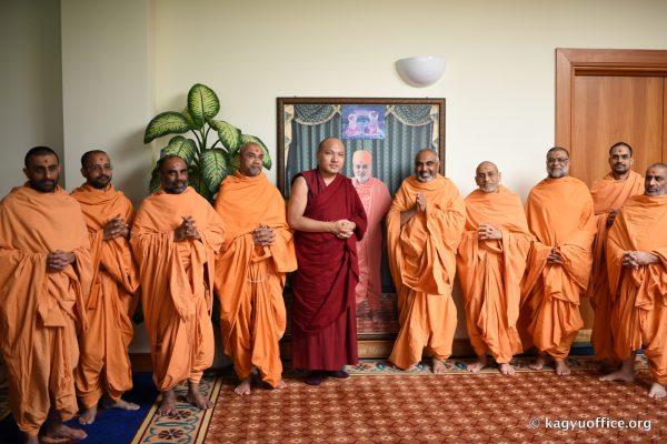 The Karmapa Visits the BAPS Swaminarayan Mandir