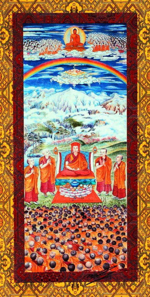 Gampopa painting by Karmapa