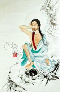 Milarepa painting by Karmapa