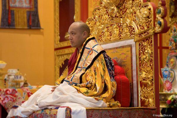 His Holiness arrives at Thrangu Monastery