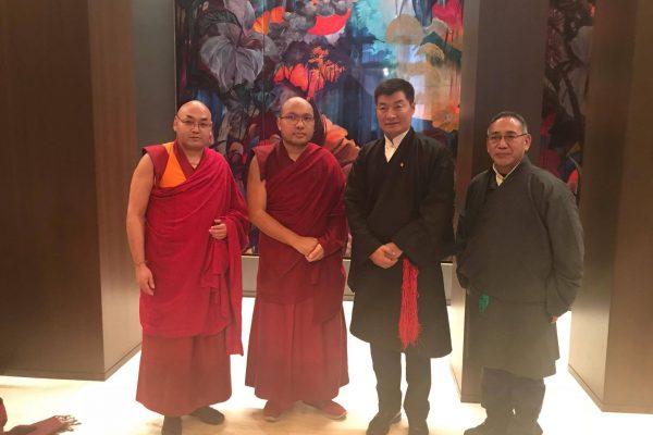 The Gyalwang Karmapa Meets with Sikyong Lobsang Sangay in New York