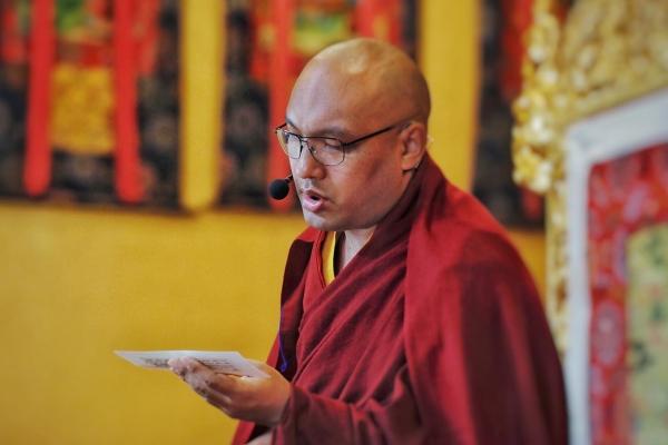 Karmapa doing Guru Rinpoche practice