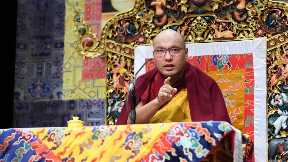 Karmapa teaching on Mind Training
