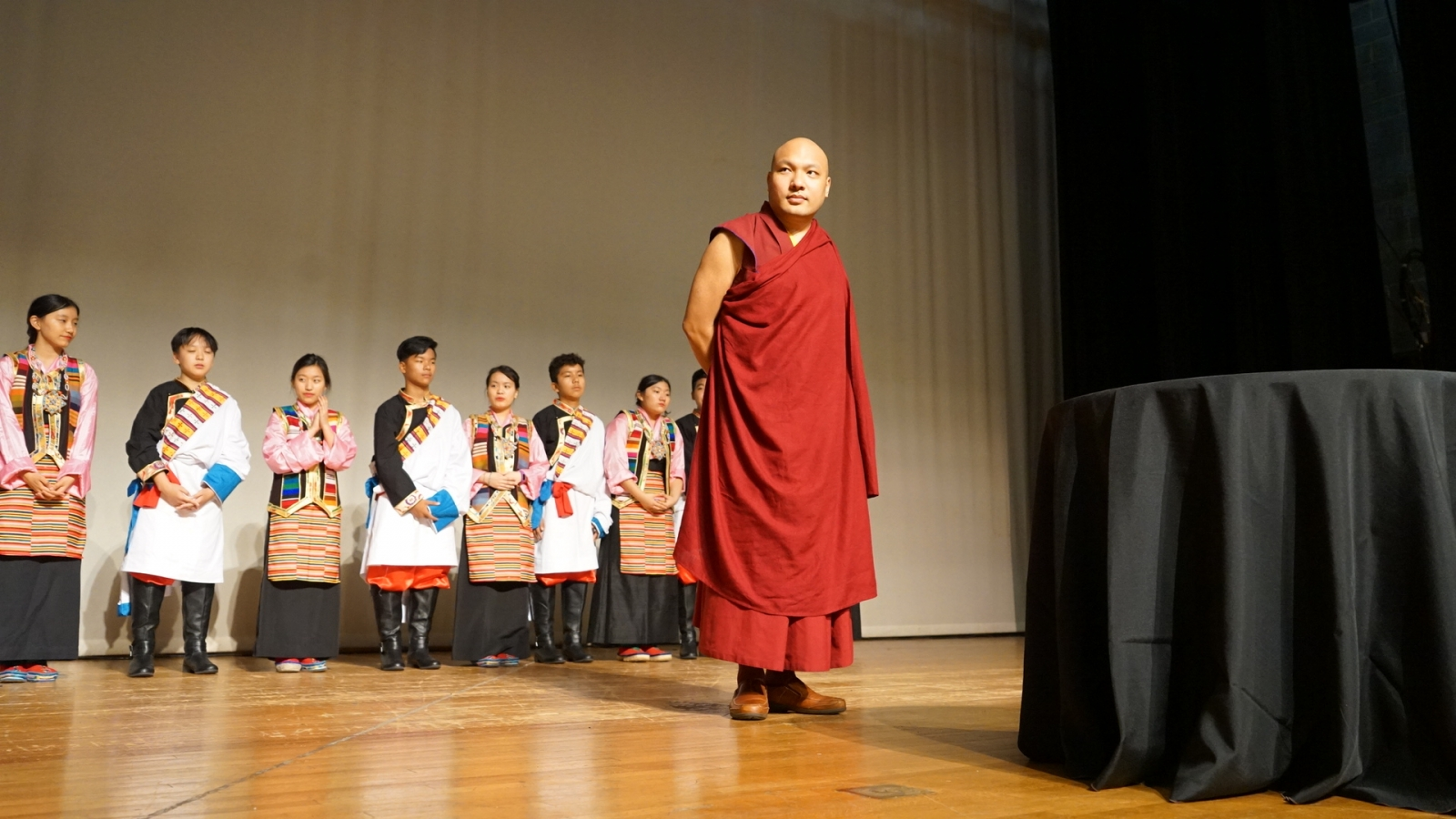 Karmapa at the thank you dinner