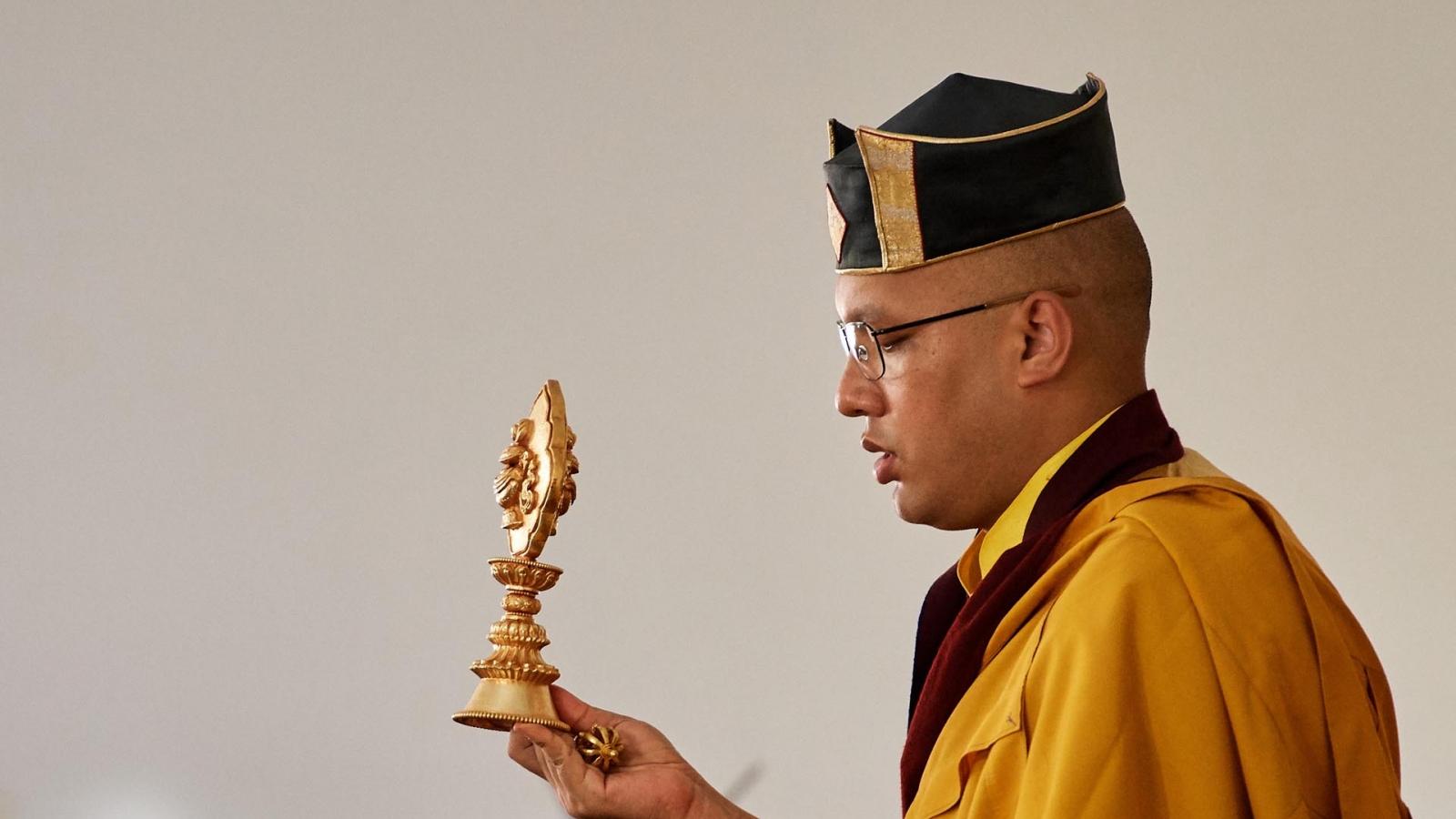 Karmapa wearing hat