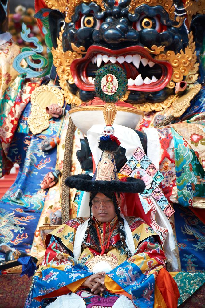 Karmapa Mahakala dance at the Kagyu Monlam