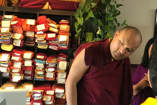 The Karmapa Visits the Buddhist Digital Resource Center