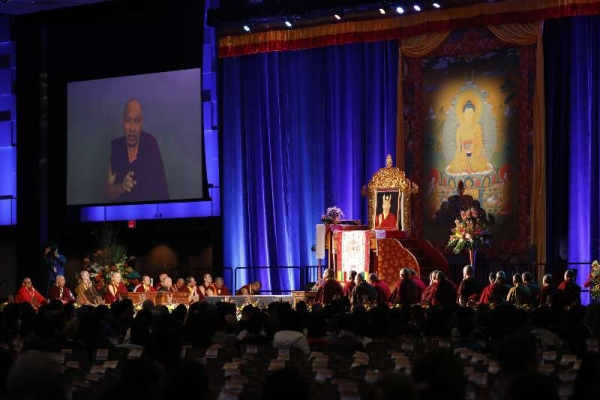 The Karmapa Gives a Meditation Transmission of the Chenrezik Sadhana and an Update on his Current Status